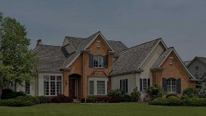 Header House with Shingle Roof