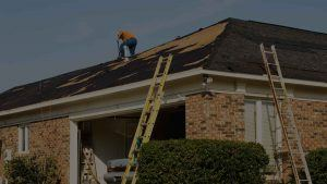 Man Fixing Damage Roof